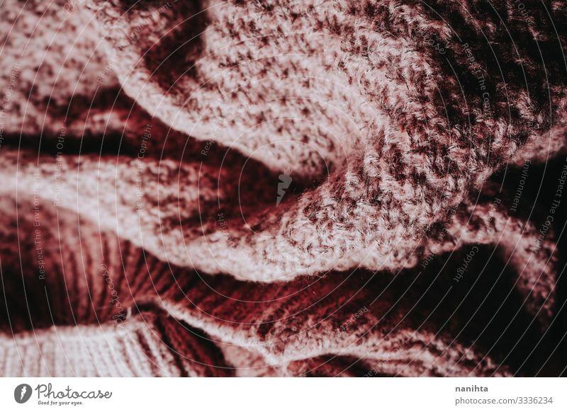 Detail der warmen Wollkleidung Winter Tapete Herbst Wärme Mode Bekleidung Wolle wollig verblüht natürlich neu weich rosa Farbe Wollstoff Konsistenz Textil
