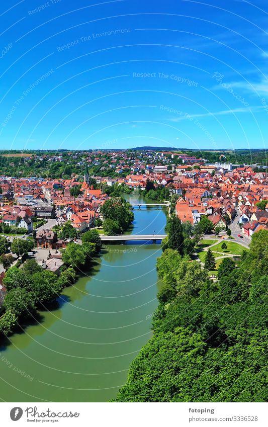 Rottenburg am Neckar schön Tourismus Ausflug Ferne Sightseeing Städtereise Sommer Sonne Wetter Stadt Altstadt Brücke Architektur Sehenswürdigkeit Wahrzeichen
