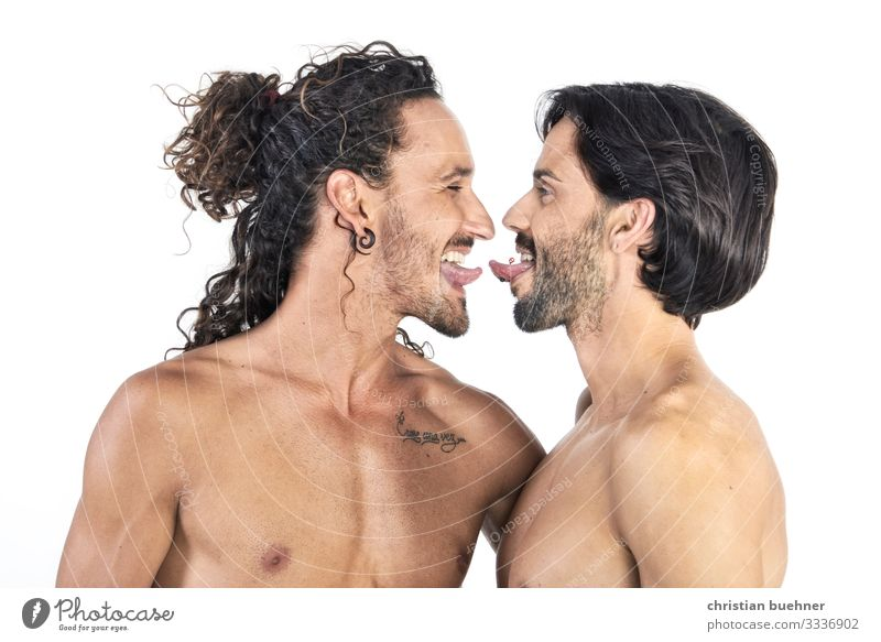 kiss me Homosexualität Junger Mann Jugendliche 2 Mensch Küssen Frühlingsgefühle Leidenschaft Toleranz Freundschaft Liebesaffäre Lust nachhaltig protestieren Sex