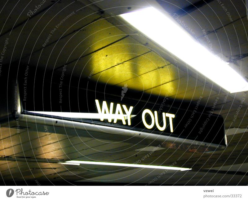 Way out London Ausgang Verkehr England London Underground WayOut