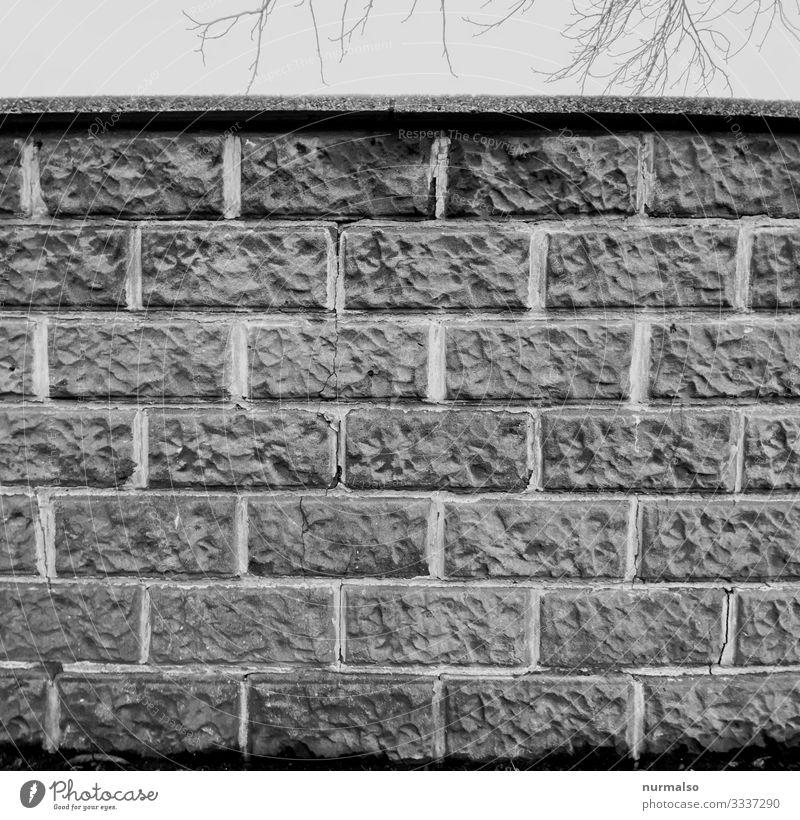 Die Mauer, denkt sie euch wo ihr wollt Kleinstadt Stadt Menschenleer Haus Rathaus Bahnhof Flughafen Hafen Bauwerk Gebäude Architektur Wand Stein Aggression