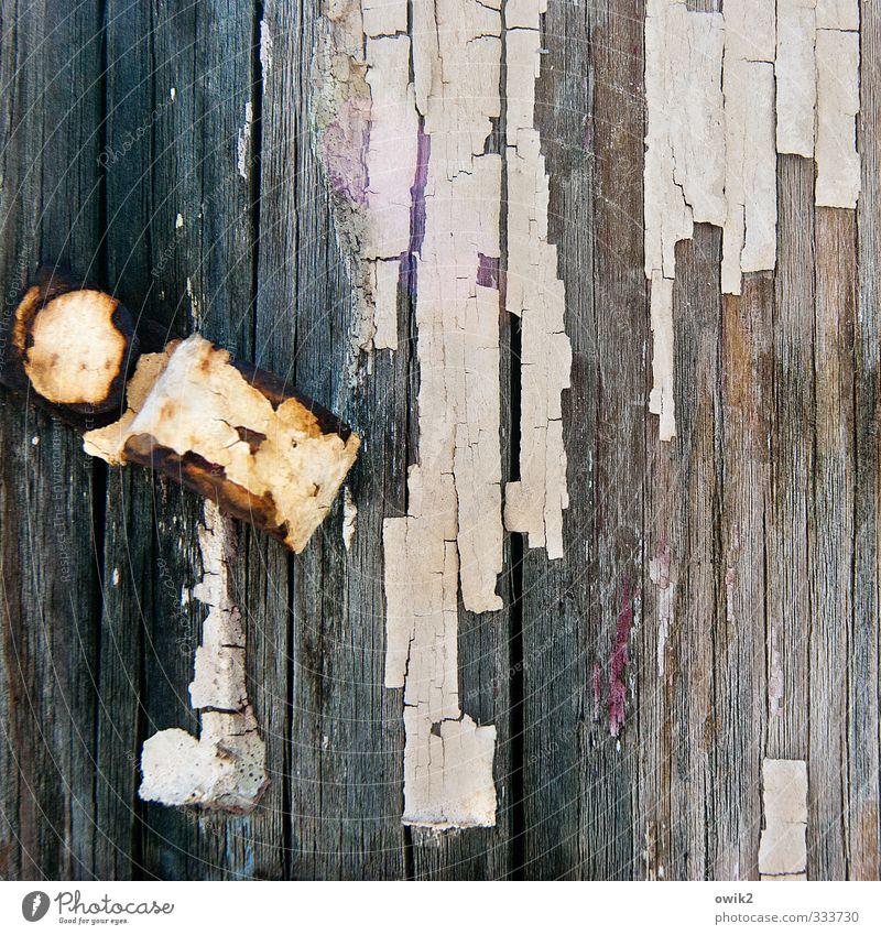 Clip Art Holz Metall alt einfach trashig bizarr Farbe Vergänglichkeit Wandel & Veränderung Zerstörung Farbrest Teile u. Stücke abblättern Riss Spuren Maserung