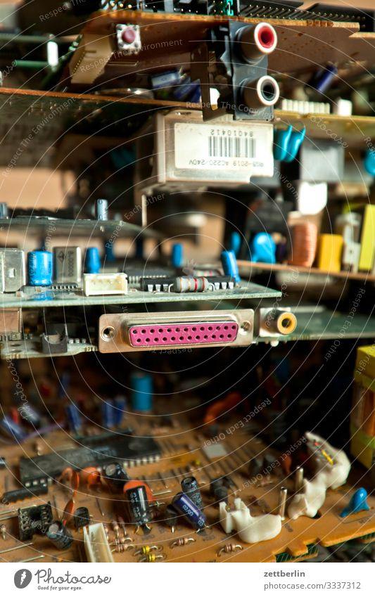 Elektroschrott Computer computerisieren Computertechniker Datenträger Datenschutz Detailaufnahme Teile u. Stücke Festplatte Hardware Innenaufnahme interface