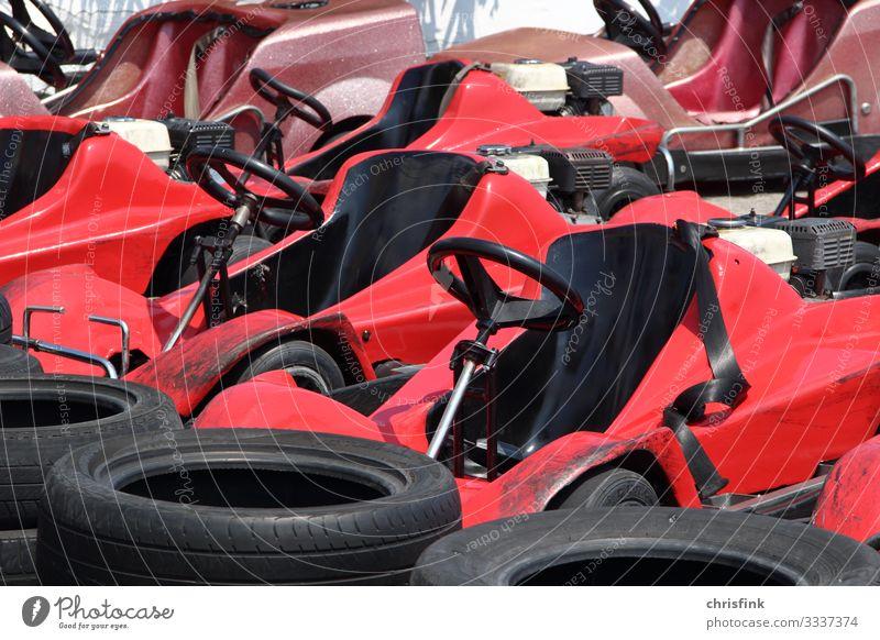 Fahrzeuge an Cart-Bahn Lifestyle Freizeit & Hobby Sport Motorsport Erfolg Verlierer Sportstätten Rennbahn Technik & Technologie Umwelt Natur Verkehrsmittel