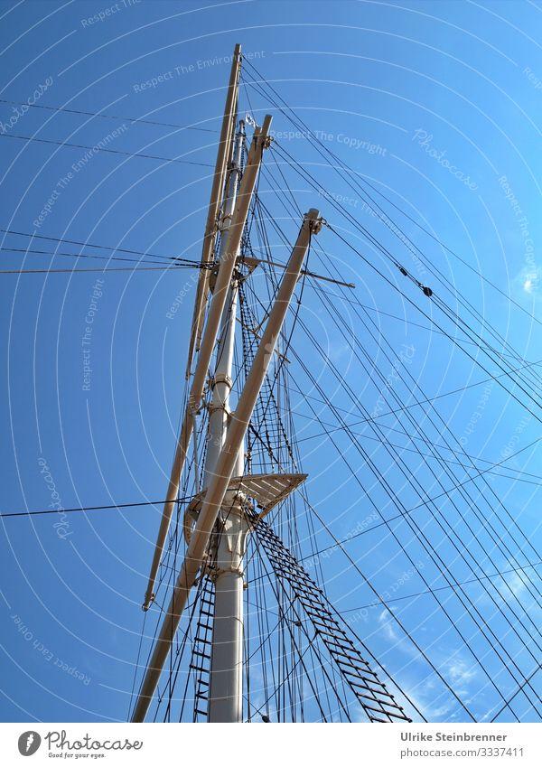Takelage Ferien & Urlaub & Reisen Tourismus Sightseeing Städtereise Hamburg Deutschland Europa Verkehr Verkehrsmittel Schifffahrt Segelschiff stehen historisch