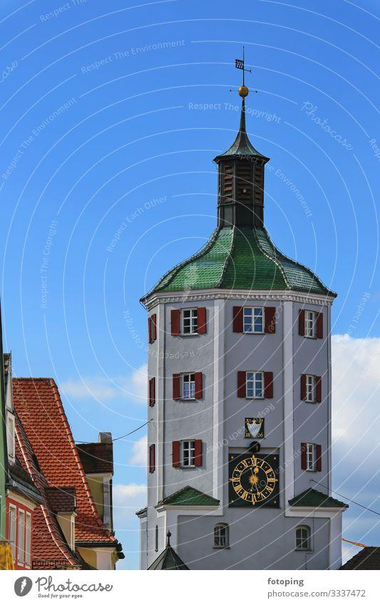 Günzburg Tourismus Ausflug Sightseeing Sommer Sonne Wolken Schönes Wetter Stadt Altstadt Architektur Sehenswürdigkeit Wahrzeichen Denkmal historisch