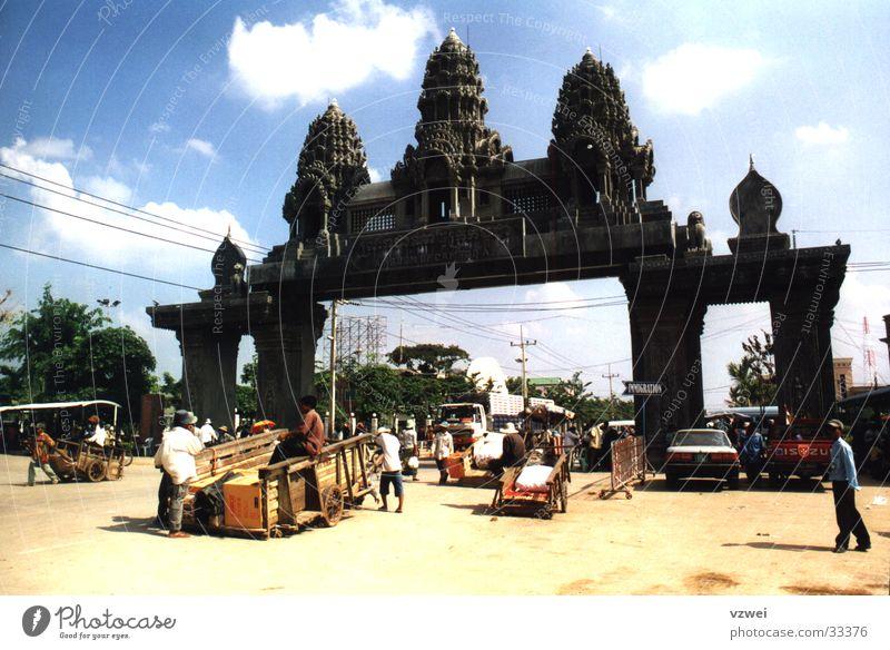 Grenze zu Kambotscha Sand Asien Grenze Staub Migration