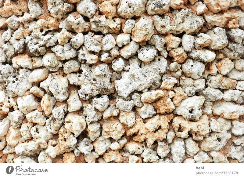 Steiniger Hintergrund Dekoration & Verzierung Tapete Natur Sand Felsen alt groß natürlich braun gelb grau weiß Farbe Wand Material Konsistenz Kieselsteine