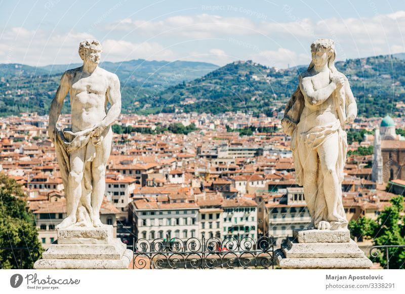 Panoramablick auf die Stadt Florenz, Italien Skulptur Architektur Landschaft Toskana Europa Skyline entdecken alt ästhetisch historisch einzigartig