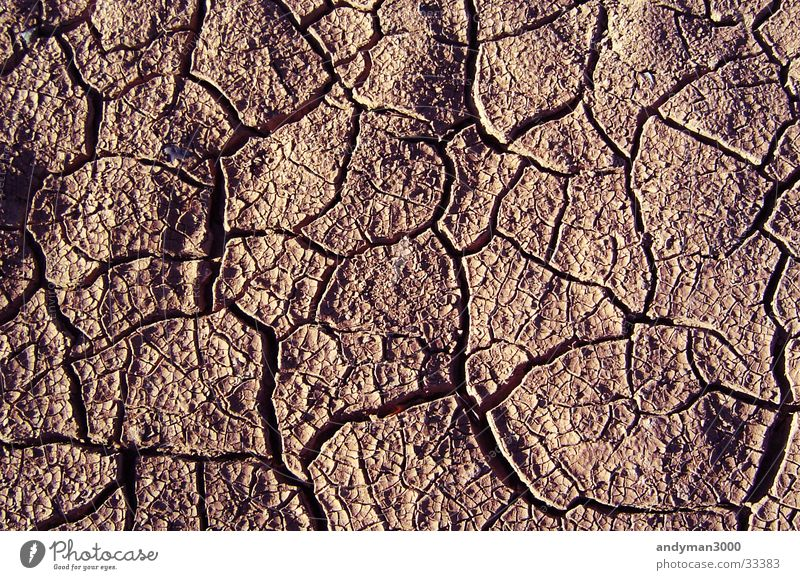 rissiger Lehmboden trocken Riss getrocknet