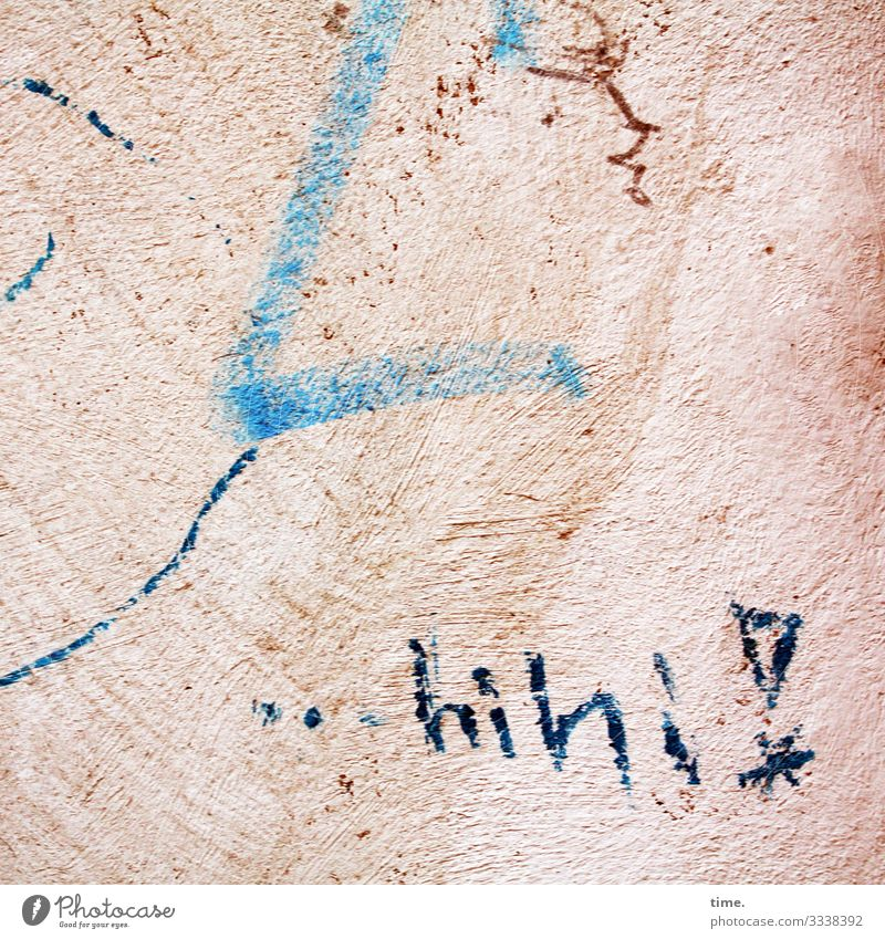angeheitert | Geschriebenes Mauer Wand Putzfassade Stein Schriftzeichen Ornament Graffiti Linie Lächeln lachen Freundlichkeit Fröhlichkeit lustig Gefühle
