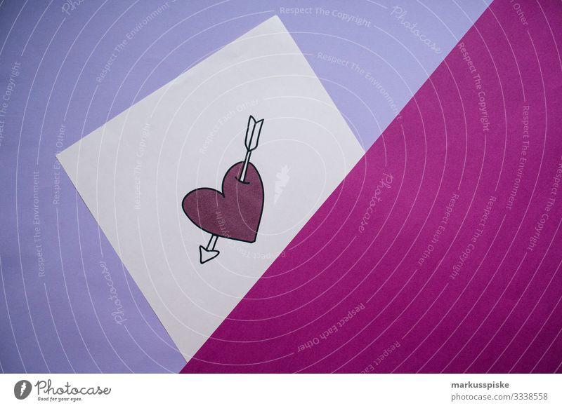 Herz Liebesbeweis Liebesbrief Freude Glück Mensch maskulin feminin Paar Partner Leben 2 Zeichen Schriftzeichen Ornament Graffiti Liebeserklärung Liebesbekundung