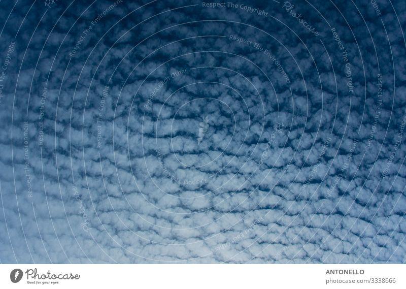 Blauer südamerikanischer Himmel mit Wolken an der chilenischen Küste Design schön Ferne Sommer Umwelt Natur Luft nur Himmel Sonnenlicht Klima Wetter Chile