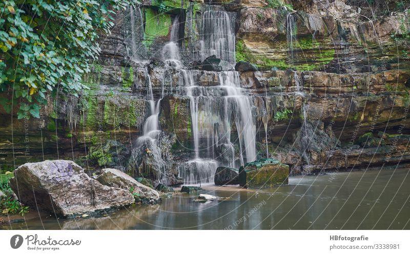 Wasserfall Umwelt Natur Landschaft Urelemente Teich Bach Fluss Schwimmen & Baden Freude Ferien & Urlaub & Reisen Portugal frisch Farbfoto Außenaufnahme