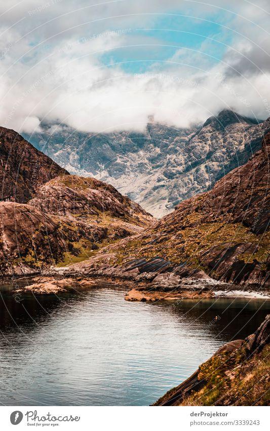 Loch Coruisk auf Isle of Skye Ferien & Urlaub & Reisen Tourismus Ausflug Abenteuer Ferne Freiheit Berge u. Gebirge wandern Umwelt Natur Landschaft Pflanze Tier