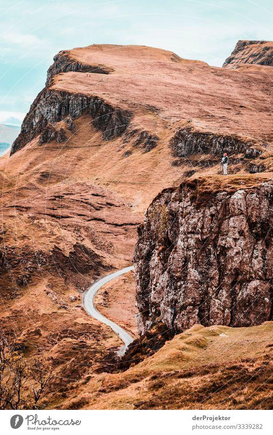 Strasse auf Isle of Skye Ferien & Urlaub & Reisen Tourismus Ausflug Abenteuer Ferne Freiheit Berge u. Gebirge wandern Umwelt Natur Landschaft Pflanze Frühling
