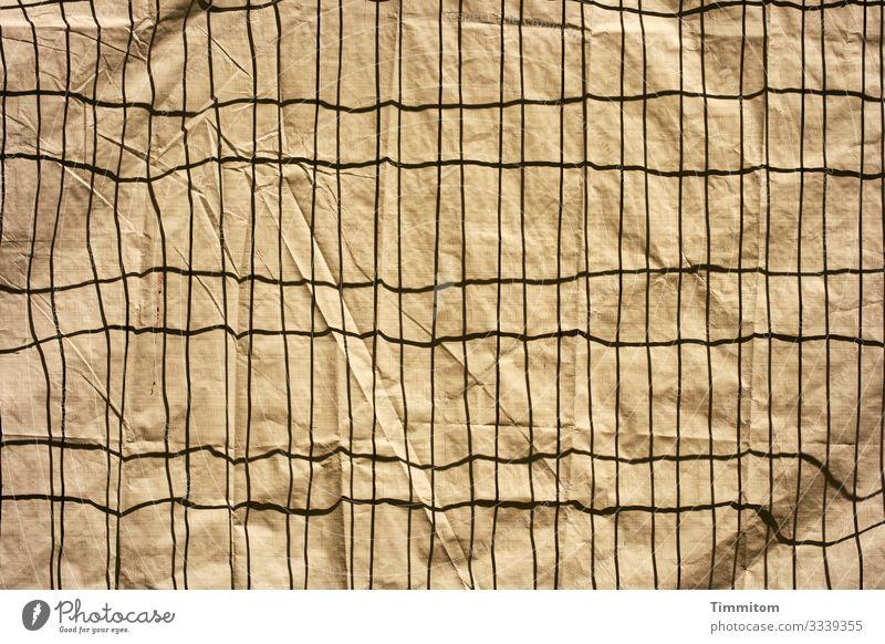 Kein Durchblick schwarz Gefühle braun Linie Metall ästhetisch einfach Neugier Baustelle Kunststoff Barriere Absperrgitter