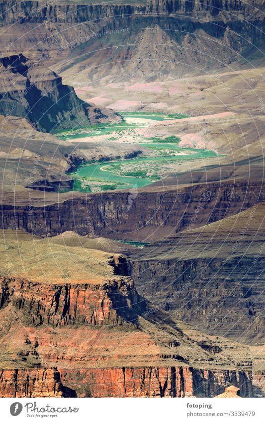 Grand Canyon Tourismus Ausflug Abenteuer Natur Landschaft Sand Luft Felsen Schlucht Wüste Sehenswürdigkeit Wahrzeichen Stein außergewöhnlich fantastisch wild