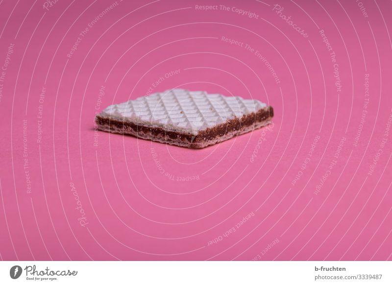 Waffel Lebensmittel Teigwaren Backwaren Dessert Süßwaren Schokolade Ernährung Essen Papier wählen beobachten genießen frisch rosa füllen haselnusscreme