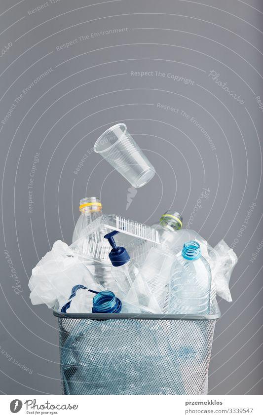 Umwelt Textfreiraum Kunststoff Müll Umweltschutz Flasche Verpackung ökologisch Umweltverschmutzung Container Kunststoffverpackung Recycling Paket Haufen