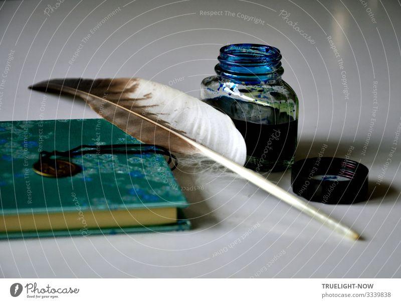 Geschriebenes | ...hat Tradition Lifestyle Stil Design Freude Tagebuch Häusliches Leben Wohnung Tisch Schriftsteller Poesiealbum Tintenfaß Schreibfeder