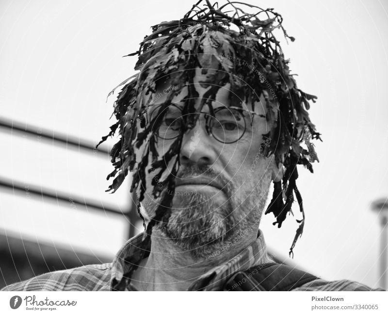 Neue Frisur Lifestyle Stil Freude schön Mensch maskulin Mann Erwachsene Kopf Gesicht Bart 1 45-60 Jahre Haare & Frisuren Perücke lachen Traurigkeit verrückt