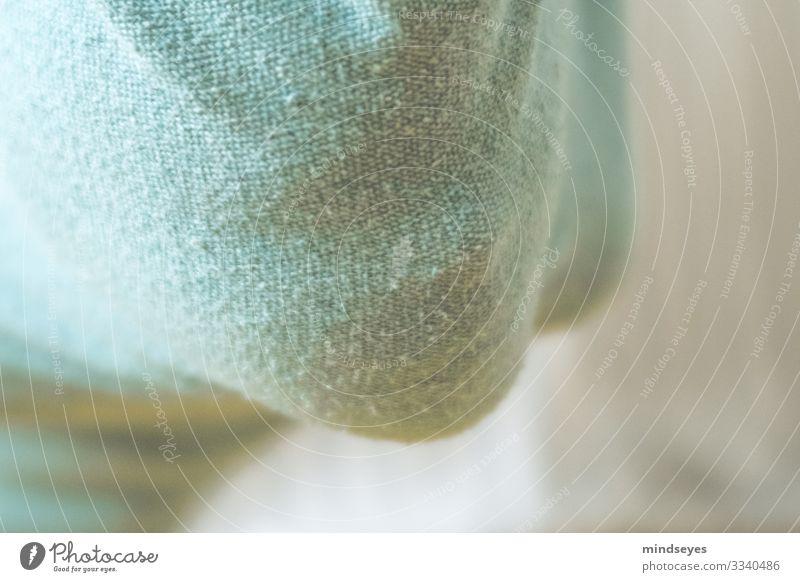 Gesicht hinter Stoff Mädchen 1 Mensch 8-13 Jahre Kind Kindheit Textilien Maske Schutz träumen Angst Porträt verstecken verhüllen unsichtbar türkis rückwärts