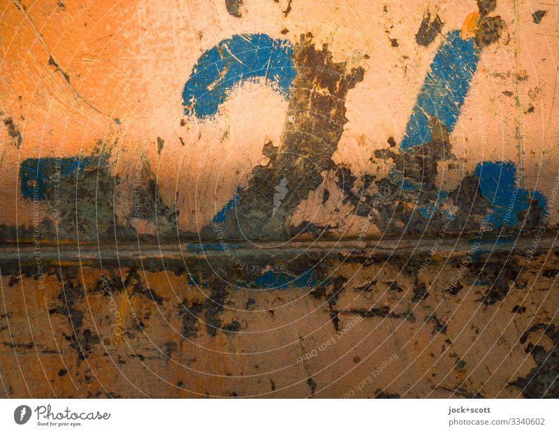 heller trifft dunkler - 24 Baustelle Berlin Container Stahl Ziffern & Zahlen dreckig authentisch fest groß orange Stimmung Inspiration Qualität Verfall