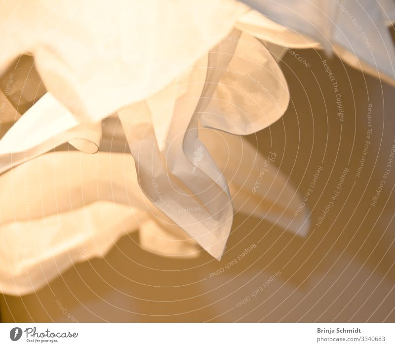 Licht und Schatten entstehen durch einen Lampenschirm schön weiß Hintergrundbild Lifestyle Wärme Stil außergewöhnlich Design Zufriedenheit