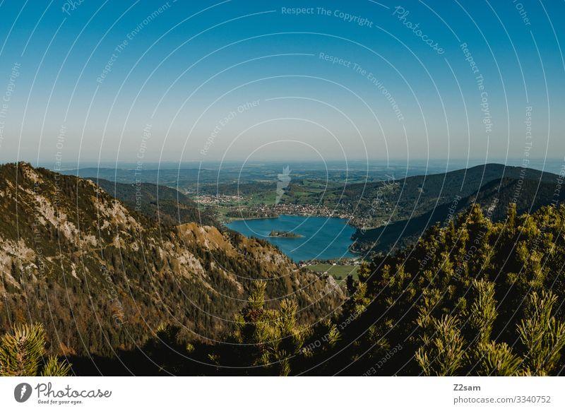 Schliersee vom Brecherspitz 2018 brecherspitze spitzing wandern schliersee bayern bäume sträucher panorama alpen voralpen wanderweg aussicht herbst Natur