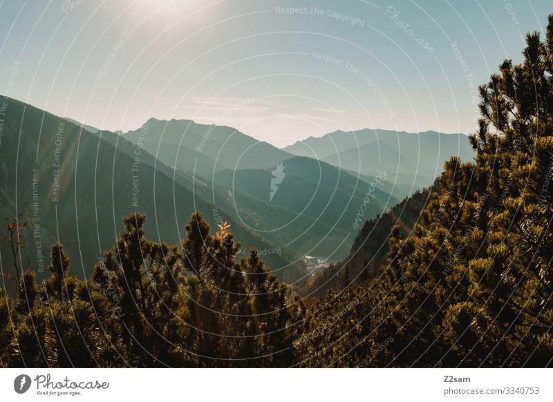 Schliersee vom Brecherspitz aus gesehen brecherspitze spitzing wandern panoroma berge natur alpenvorland bayern aufstieg gebirge Aussicht landschaftsfoto warm