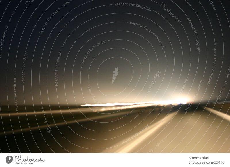 foggy drive Autobahn Nacht Licht Nebel Verkehr Abend Straße