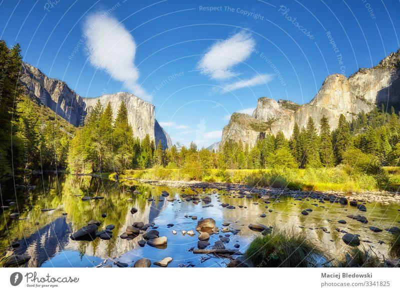 Yosemite Valley, USA. schön Ferien & Urlaub & Reisen Tourismus Ausflug Abenteuer Ferne Expedition Sommer Sommerurlaub Berge u. Gebirge wandern Natur Landschaft