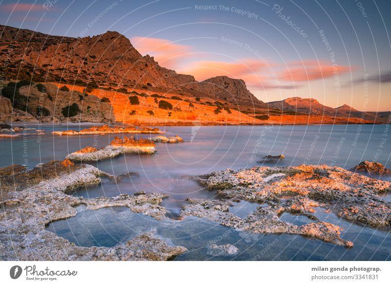 Natur Landschaft Meer Berge u. Gebirge Küste Felsen Stimmung Europa Griechenland Klippe
