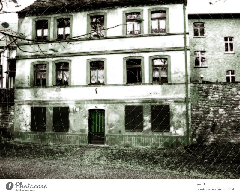 Geisterhaus alt Haus Fenster Architektur kaputt Geister u. Gespenster
