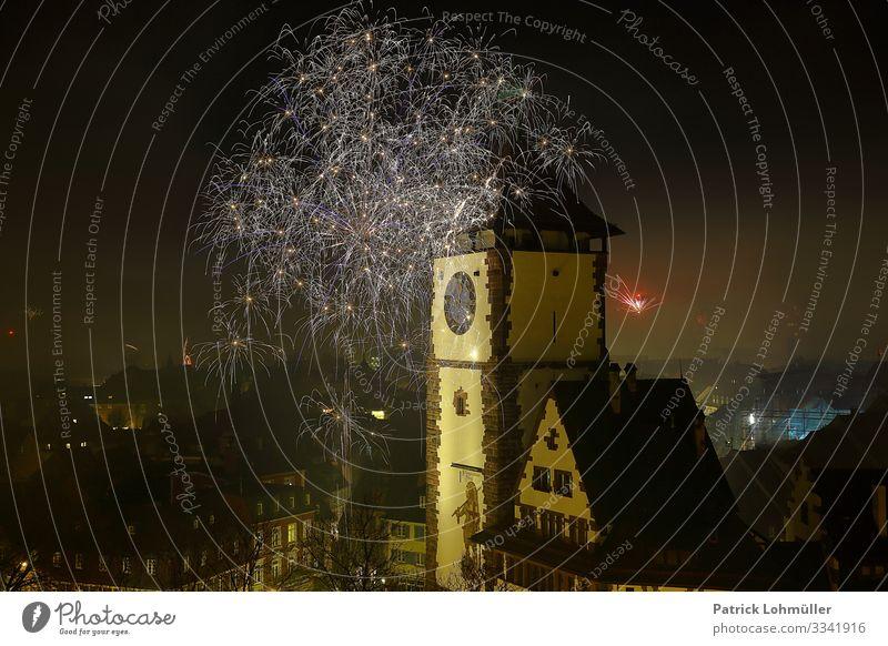 Jahreswechsel Ferien & Urlaub & Reisen Feste & Feiern Silvester u. Neujahr Umwelt Landschaft Nachthimmel Winter Klima Klimawandel Freiburg im Breisgau