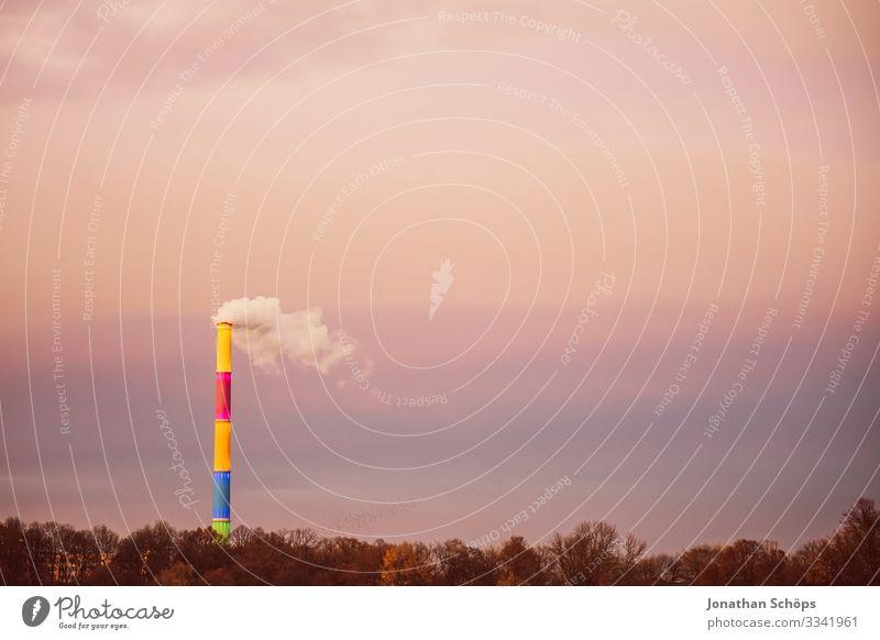 Braunkohle wird durch Farben nicht bunt II Landschaft Umwelt Küste Deutschland See Seeufer Rauch Abenddämmerung Abgas Teich Sachsen Klimawandel Spiegelbild