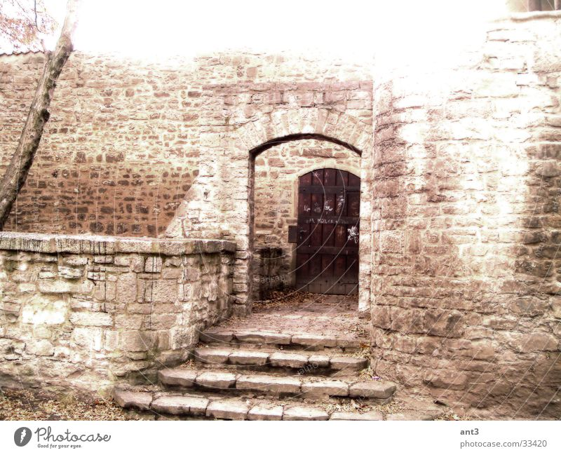 Eingang r Mauer Stein Architektur Mittelalt&#101 Treppe Ritter