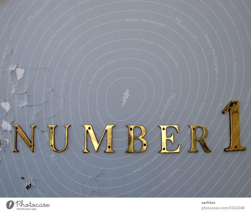 Es kann nur eine(n) geben Ziffern & Zahlen Nummerntafel Nummer eins Erfolg Konkurrenz bewerben Kandidat Vorsitzender Autorität Sport Sportveranstaltung
