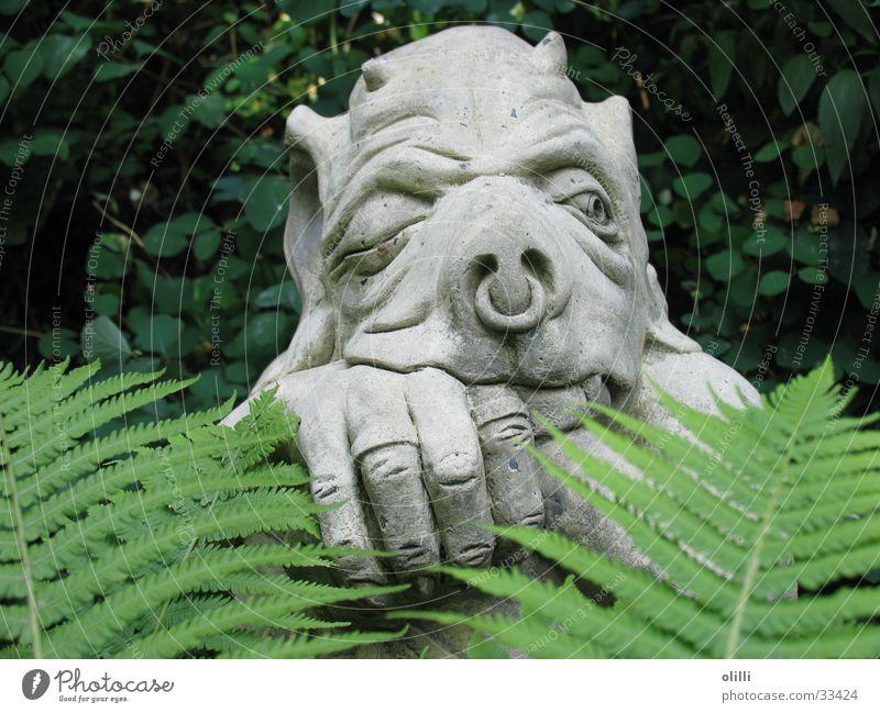 Torwächter Garten Statue obskur Wachsamkeit Skulptur Fantasygeschichte