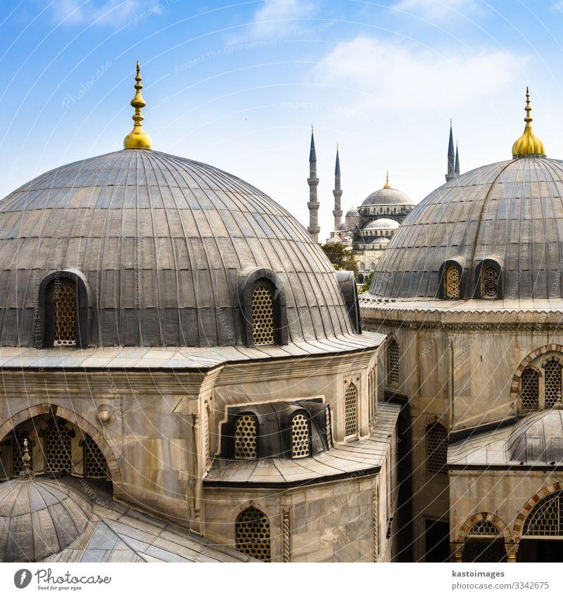 Blaue ( Sultan Ahmed ) Moschee, Istanbul, Türkei Ferien & Urlaub & Reisen Tourismus Kultur Landschaft Himmel Gebäude Architektur Denkmal historisch blau