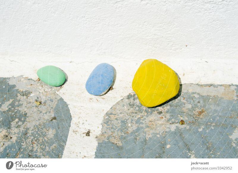 1 2 3 Stil Straßenkunst Griechenland Mauer Dekoration & Verzierung Sammlung Stein Putz einfach klein unten Wärme Fröhlichkeit achtsam Ordnungsliebe Inspiration