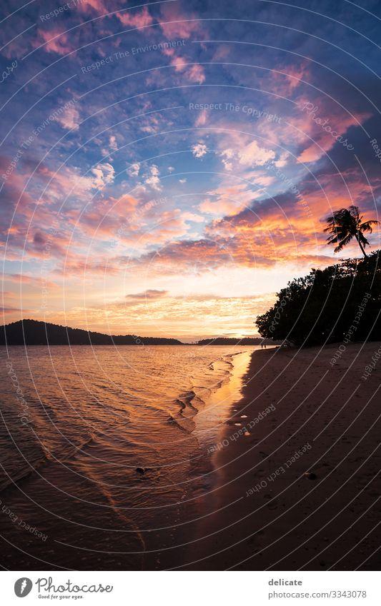 Sunset Ferien & Urlaub & Reisen Tourismus Ausflug Abenteuer Ferne Freiheit Sommer Sommerurlaub Sonne Strand Meer Insel Wellen Umwelt Natur Landschaft Wasser