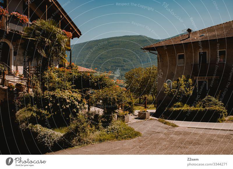 Italienische Finca alpenüberquerung gardasee mountainbike mtb transalp italien norditalien finca dorf stadt haus mediteran süden sommer sonne grün pflanzen hof