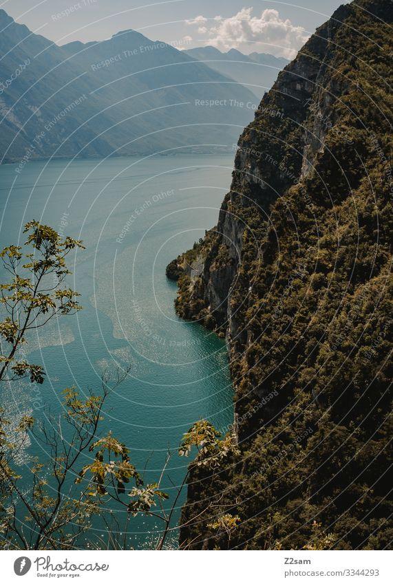 Ponale | Gardasee 2016 alpenüberquerung gardasee mountainbike mtb transalp gardasse steilufer klippe höhe Berge u. Gebirge wald grün sommer sommerurlaub