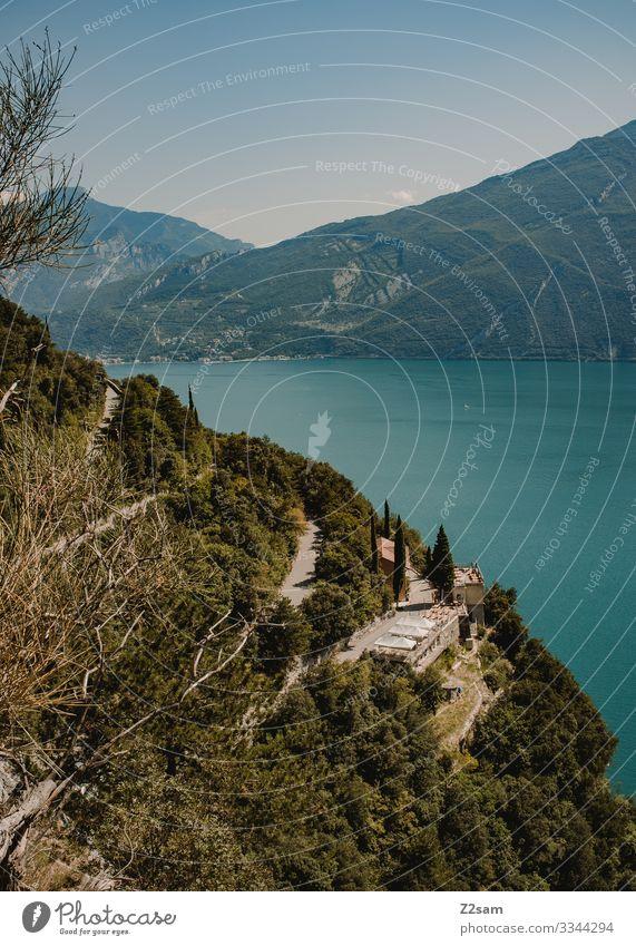 Ponalestraße | Gardasee 2016 alpenüberquerung gardasee mountainbike mtb transalp ponale lago di garda torbole ausblick panorama grün wald serpentinen steilufer