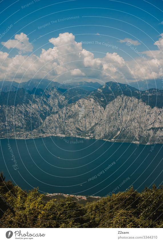 Bocca di Navene | Gardasee gardasee bocca di navene monte baldo berge Berge u. Gebirge Außenaufnahme Natur Landschaft Farbfoto See Italien Panorama (Aussicht)