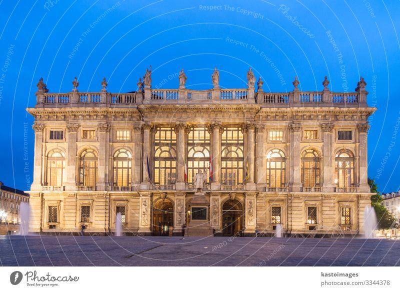 Stadtmuseum im Palazzo Madama, Turin, Italien Ferien & Urlaub & Reisen Kunst Museum Palast Burg oder Schloss Platz Gebäude Architektur Fassade Denkmal alt