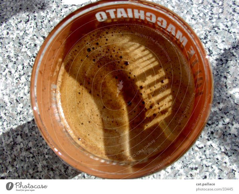 Latte Macciato braun Glas Kaffee trinken Schriftzeichen heiß Symbole & Metaphern Milchkaffee