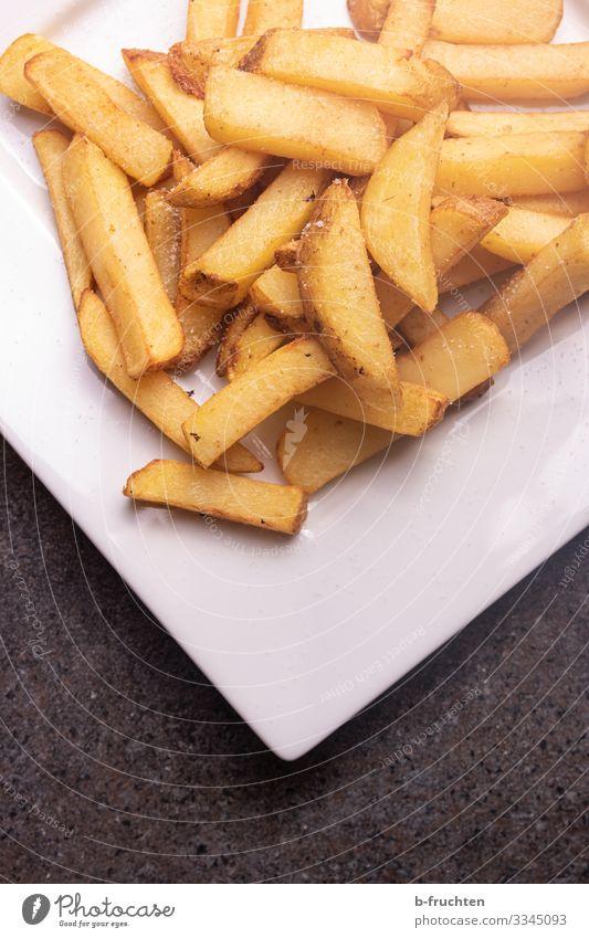 Pommes Frites Lebensmittel Ernährung Essen Büffet Brunch Fastfood Geschirr Teller Gesunde Ernährung Küche Restaurant wählen genießen frisch lecker Pommes frites